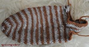Nadelbinden Socken Oslostich Spiraltechnik